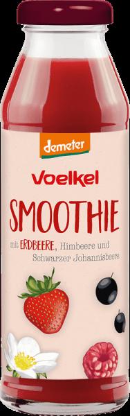 Smoothie mit Erdbeere, Himbeere und Johannisbeere (0,28l)