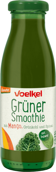Grüner Smoothie mit Mango Grünkohl Spinat (0,25l)