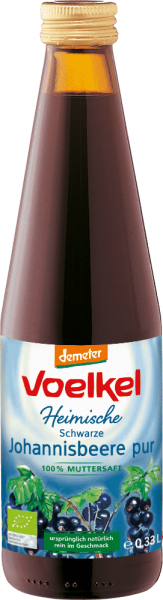 Heimische schwarze Johannisbeere pur (0,33l)