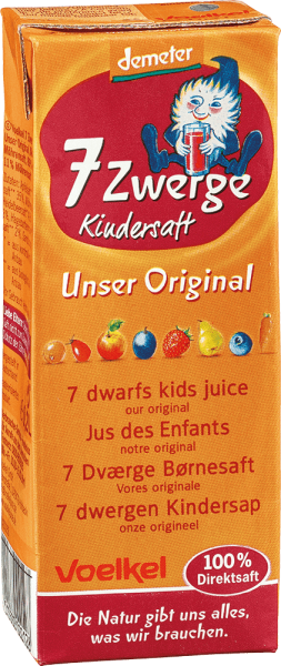 7 Zwerge Kindersaft Unser Original (0,2l)